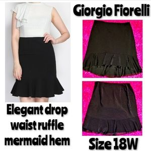 Giorgio Fiorelli Skirt Size 18W Ruffle Mermaid Hem